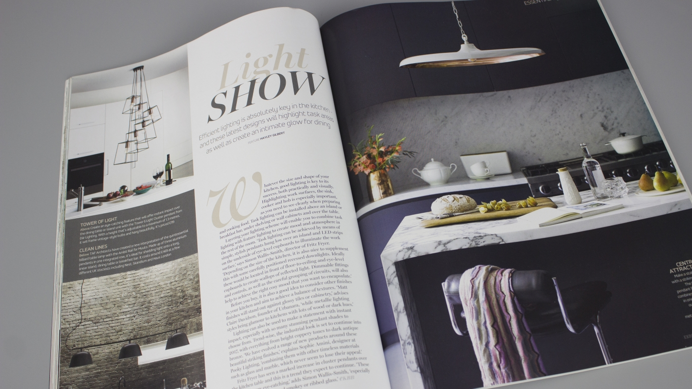 Essential Kitchen Bedroom & Bathroom: Q&A on lighting with skinflint's Sophie Miller