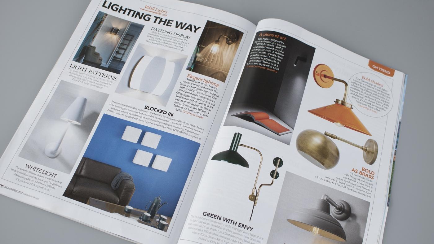 Self Build & Design: Featuring skinflint's Czech glass wall lights