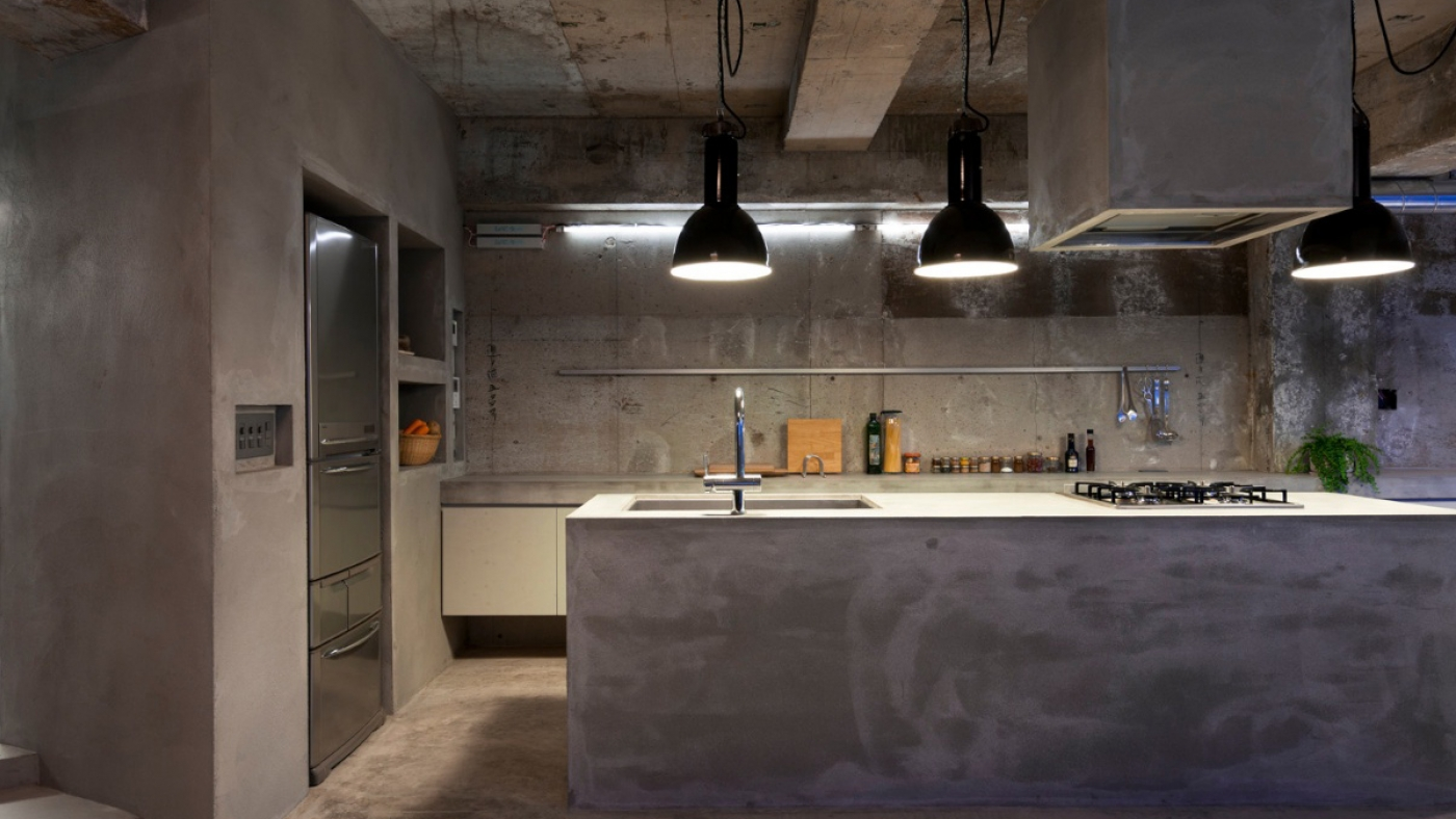 The Concrete apartment in Nagoya Japan