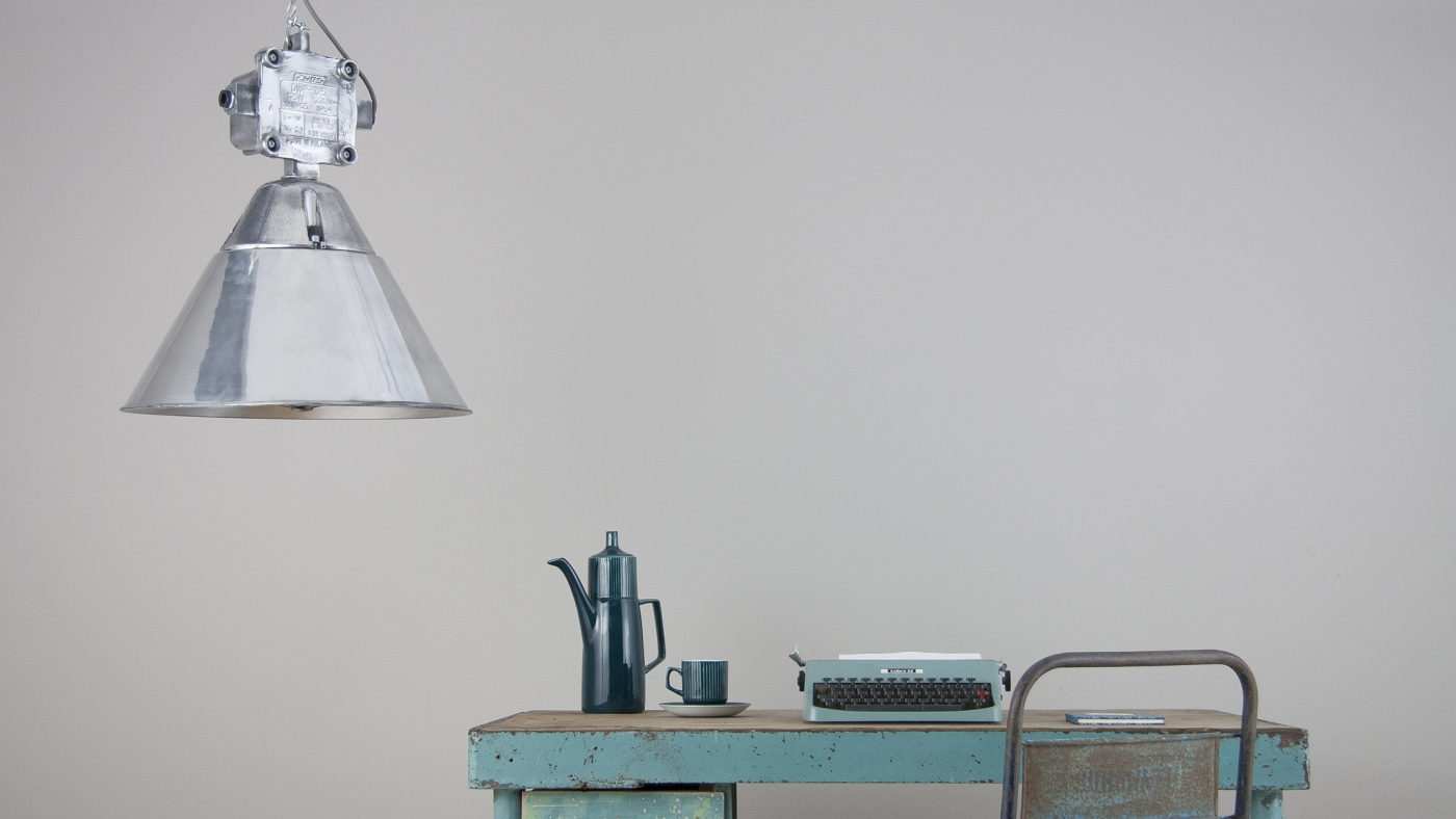 British enamel pendants and statement aluminium lights from Poland