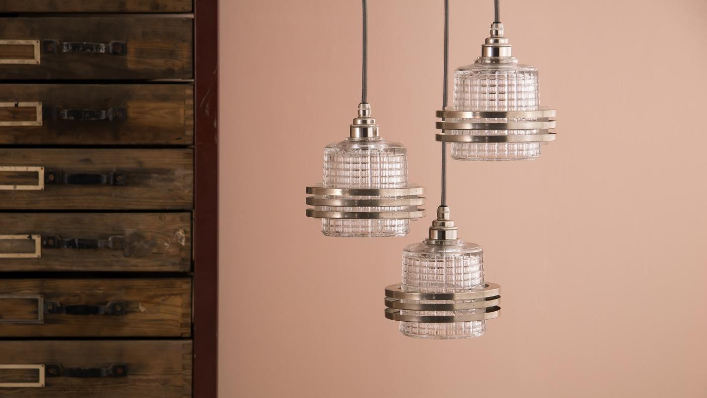 skinflint's SS19 collection of vintage Czech glassware pendant lights