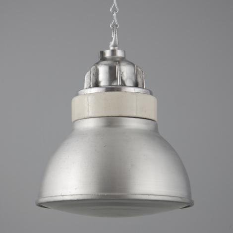 vintage lighting pendants. Brushed Aluminium And Porcelain Pendants By Simplex Vintage Lighting