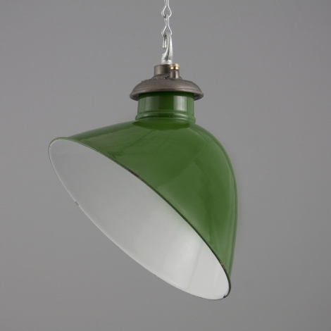 reclaimed industrial lighting. Racing British Green Enamel Angled Industrial Light Reclaimed Lighting A
