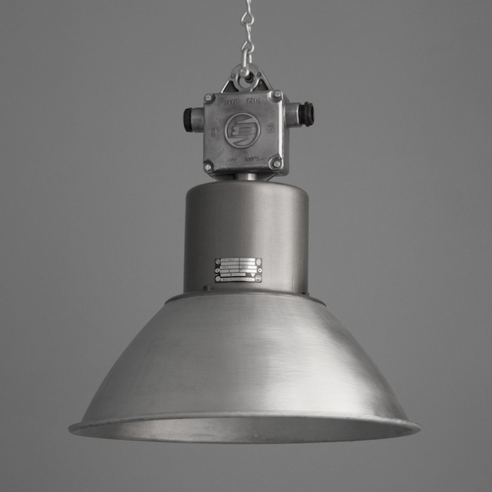 Eastern bloc industrial pendant lighting v1 skinflint industrial lighting with brushed aluminium shade aloadofball Images