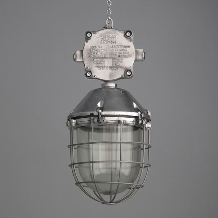 Items Similar To Industrial Lighting: XL Vintage Polish Industrial Lights