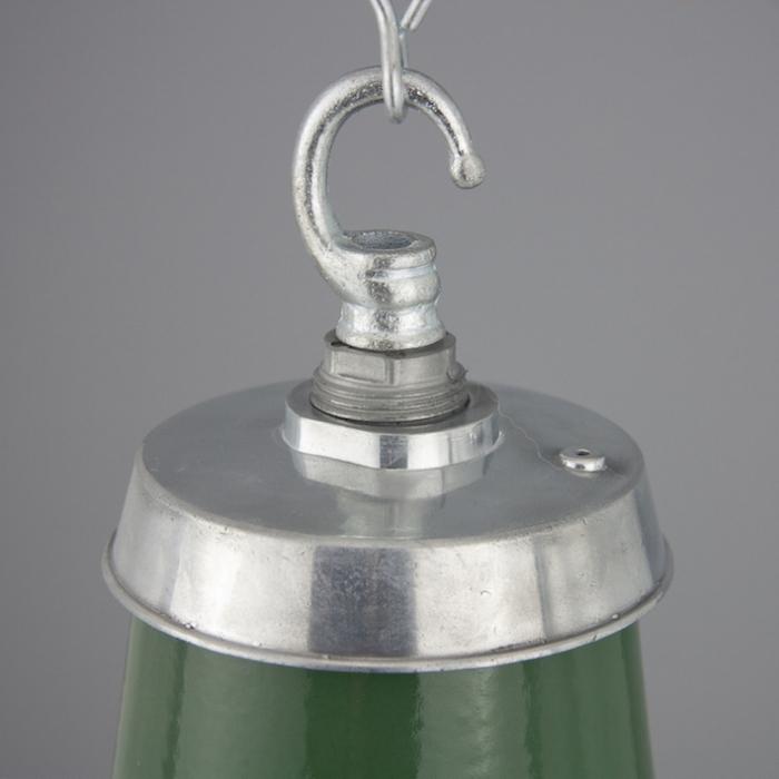 1950s vintage factory pendants skinflint vintage lamps salvaged from rolls royce green enamel industrial pendant shades aloadofball Choice Image