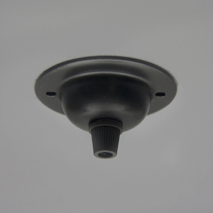 black ceiling plate for vintage lighting